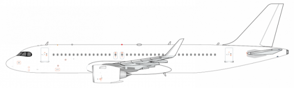 Airbus A320neo blank