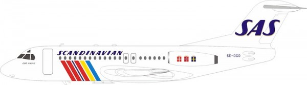 Fokker F-28-4000 SAS Scandinavian Airlines