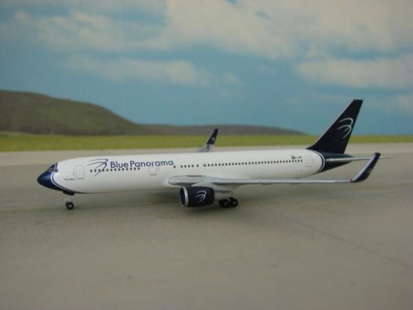 Boeing 767-300 Blue Panorama